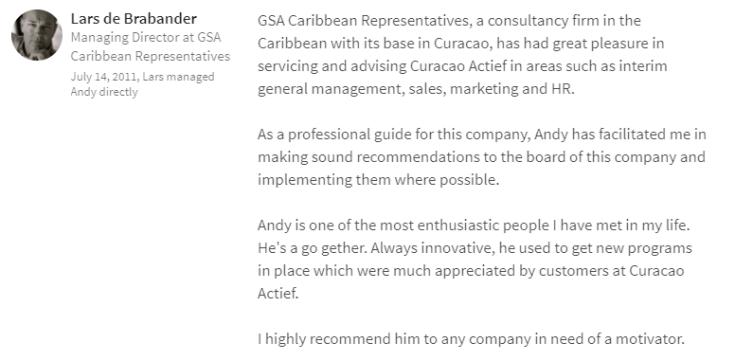 LinkedIn Review Lars de Brabander