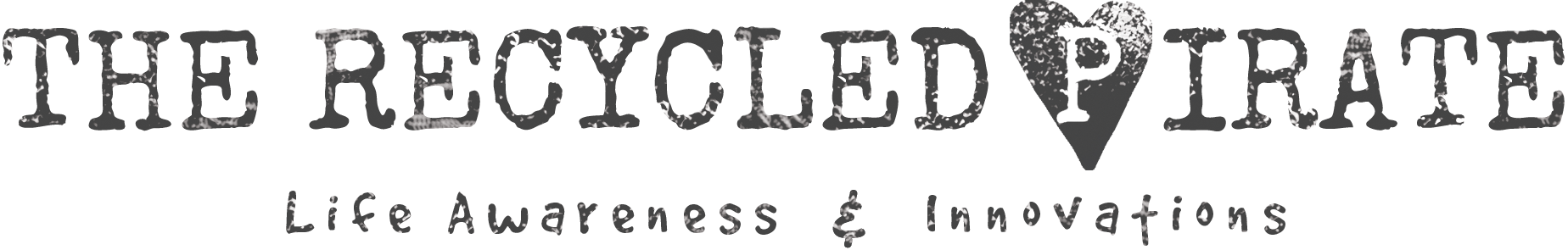The Recycled Pirate | Life Awareness & Innovations Logo Horizontal Original